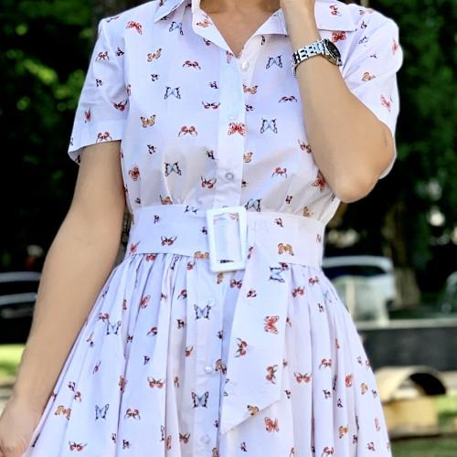 Платье с поясом 11310