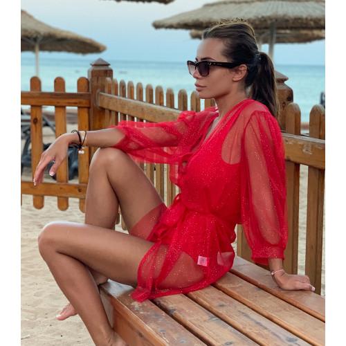 Легкий пляжный халат 11303