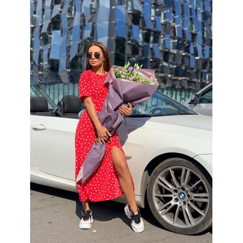 Летнее платье в модных принтах 11326