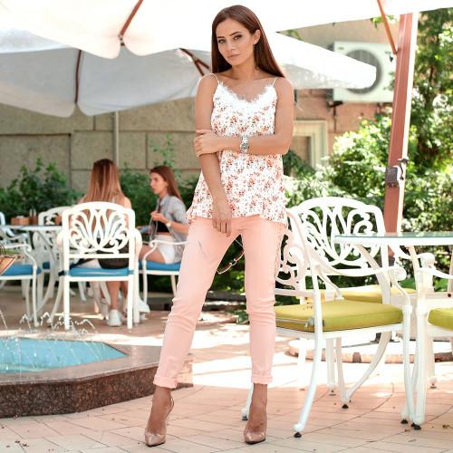 Стильные брюки с гипюром 2623-0