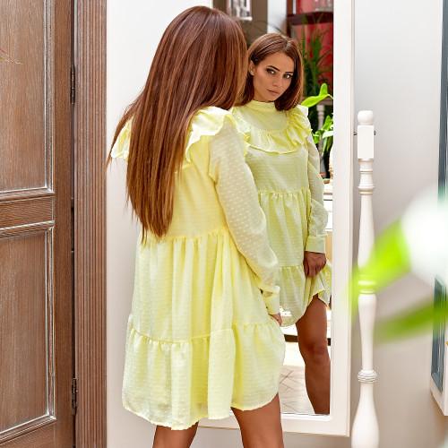 Летнее платье с рюшами 3207-0