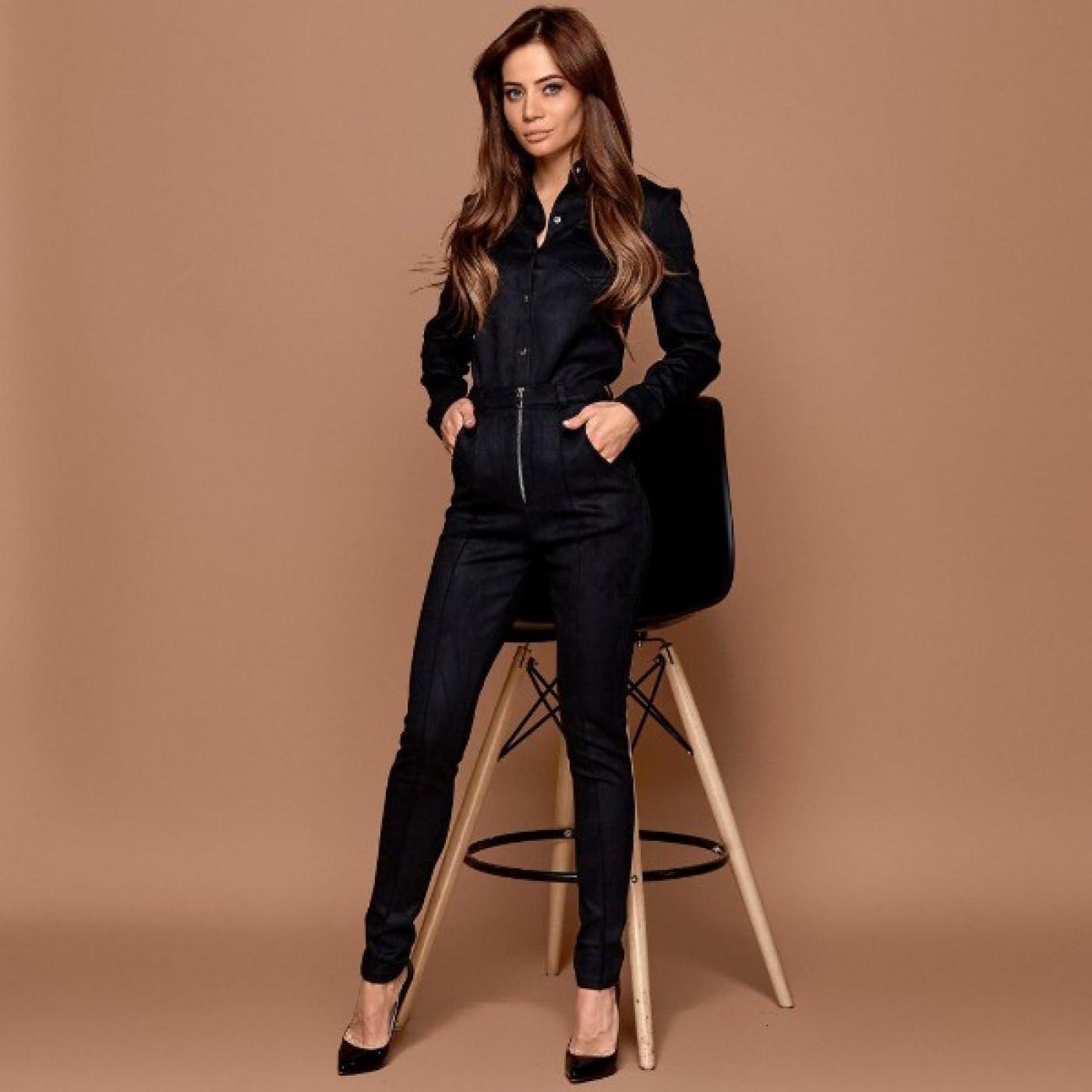 Замшевый костюм брюки+рубашка 11190
