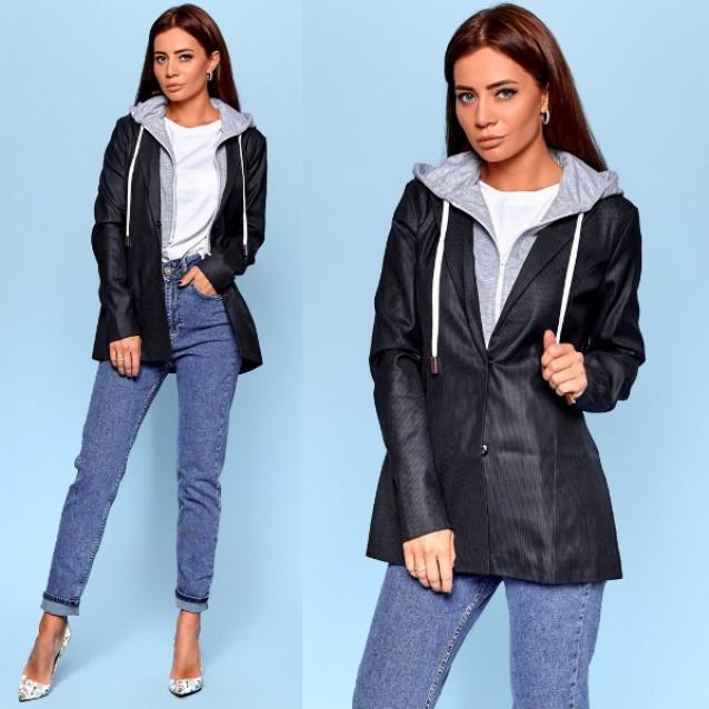 Пиджак с капюшоном 10911