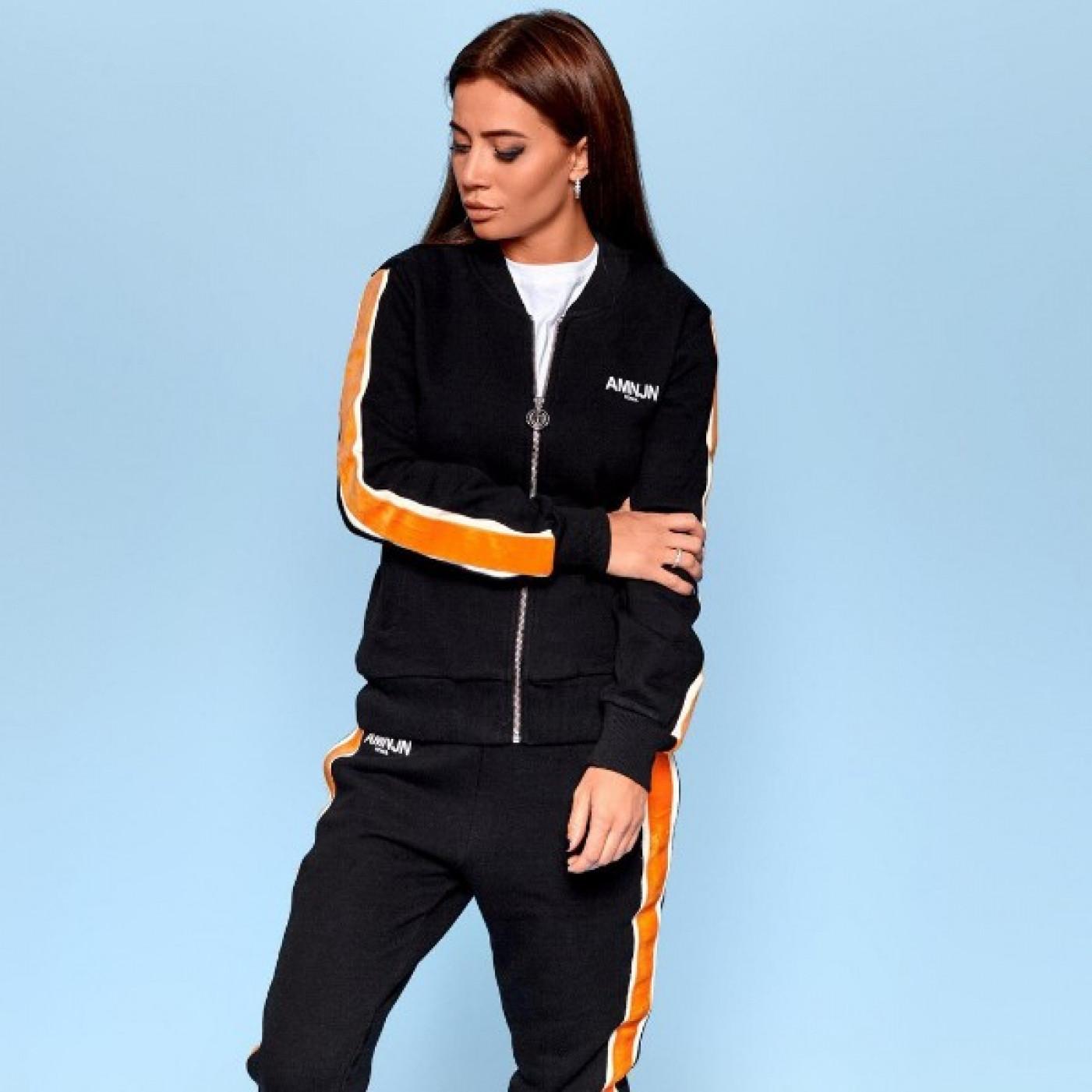 Жіночий темний спортивний костюм 4065