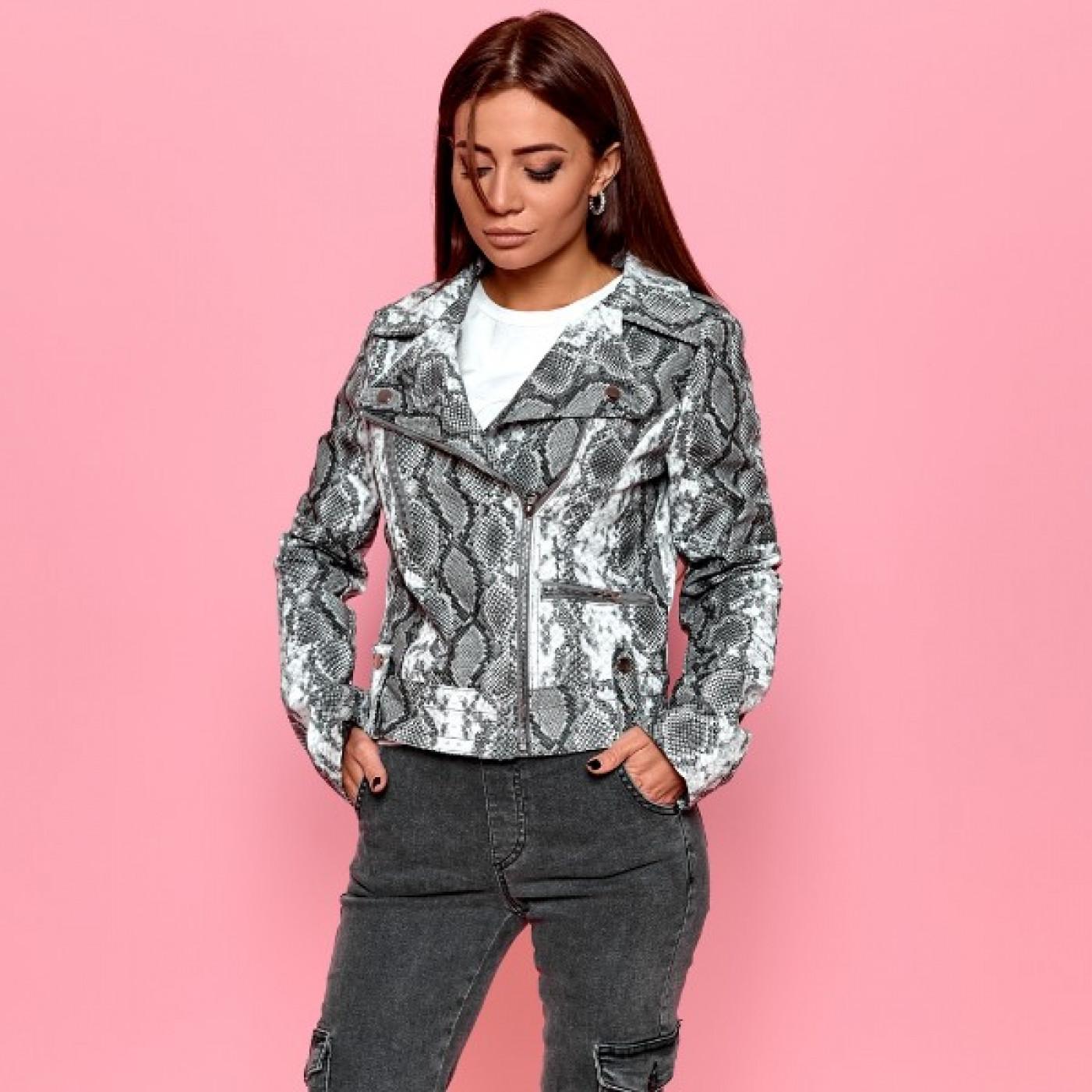 Куртка-косуха со змеиным принтом 1014-0