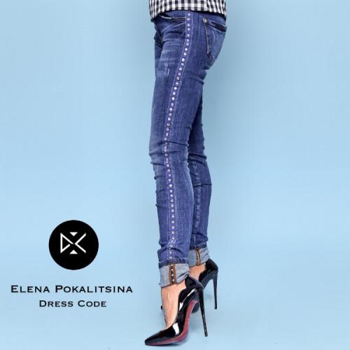 Красивые джинсы со стразами 1316-1