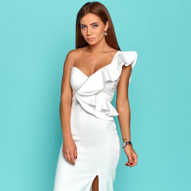 Стильное платье с воланами 11280