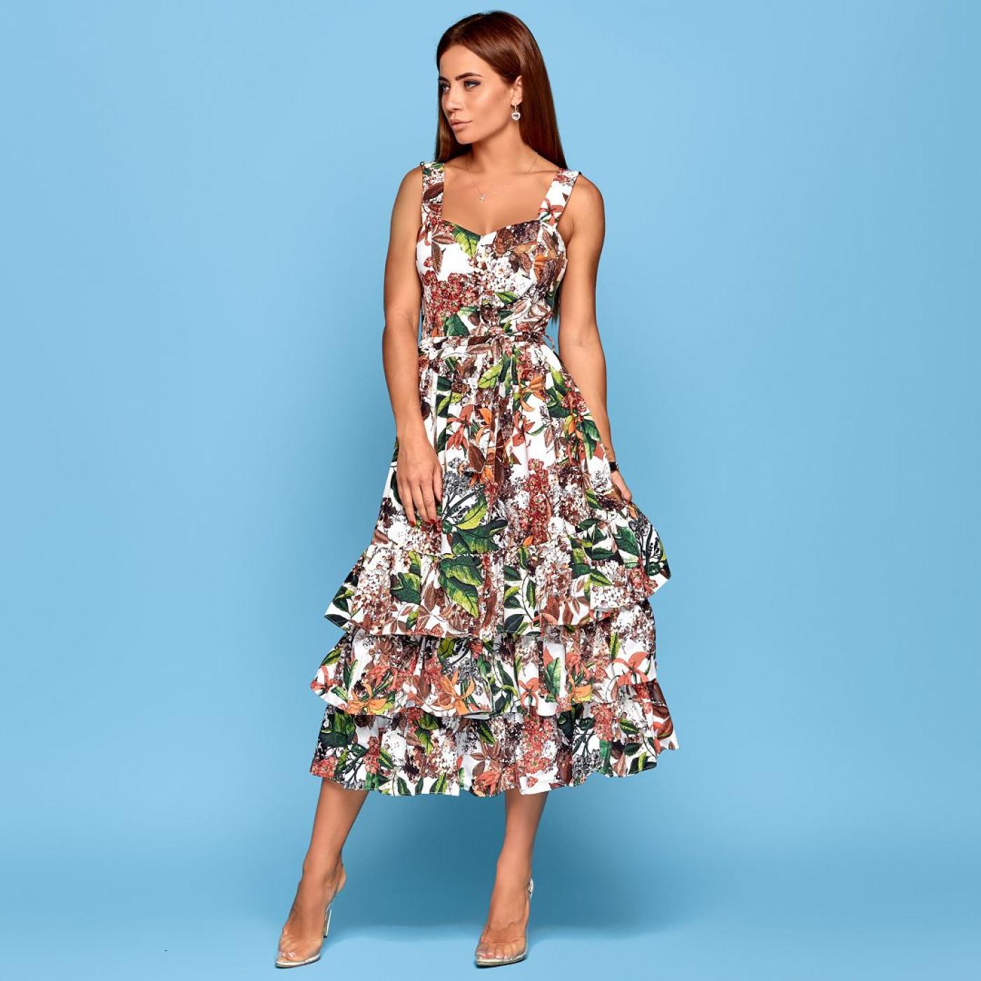 Пишне літнє плаття 11097
