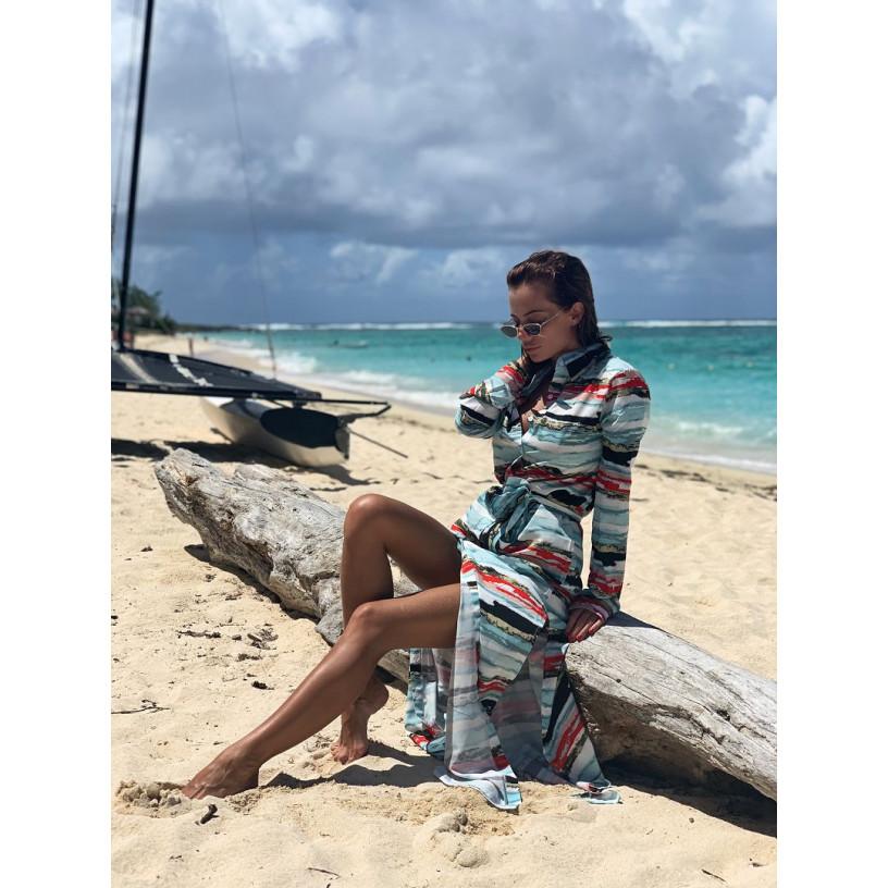 Пляжний халат-плаття 11264