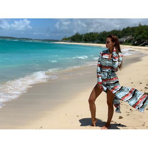 Пляжный халат-платье 11264