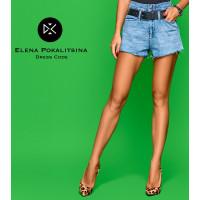 Джинсовые шорты с ремнем 4442