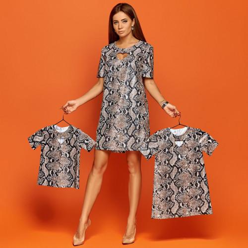 Платье детское с вырезом под питона 11287