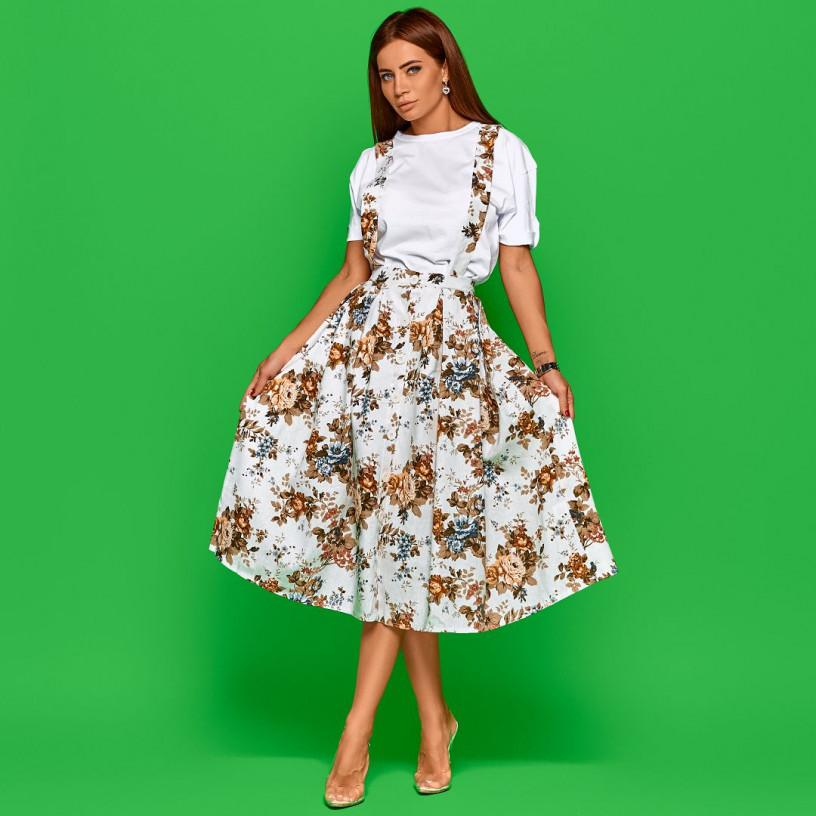 Летняя юбка с подтяжками 11087