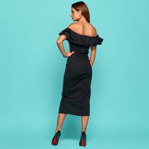 Платье с открытыми плечами 11279