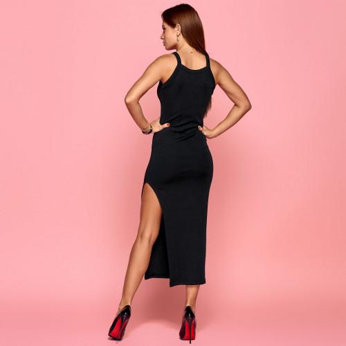 Платье стильное с разрезом 54019