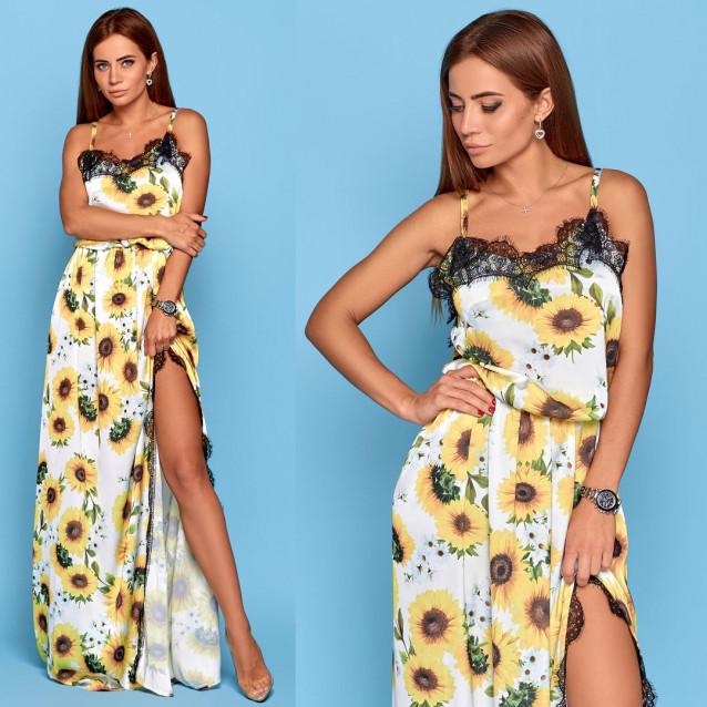 Длинное летнее платье 10815