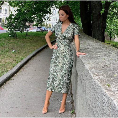 Платье миди с принтом змея 11295