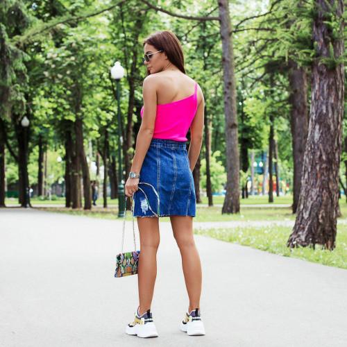 Джинсовая юбка на пуговицах 5019-0