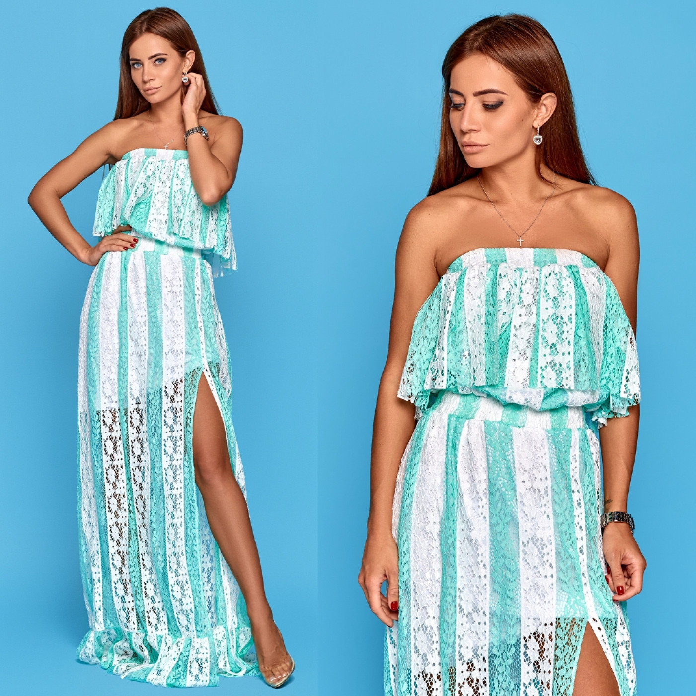 Літнє плаття в підлогу 10825