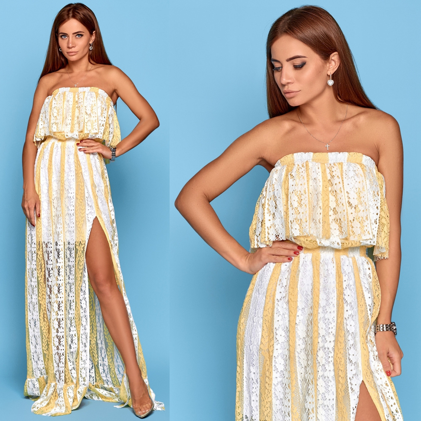 Летнее платье в пол 10825