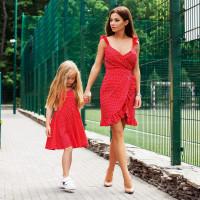 Платье Family Look с коротким запахом 11293