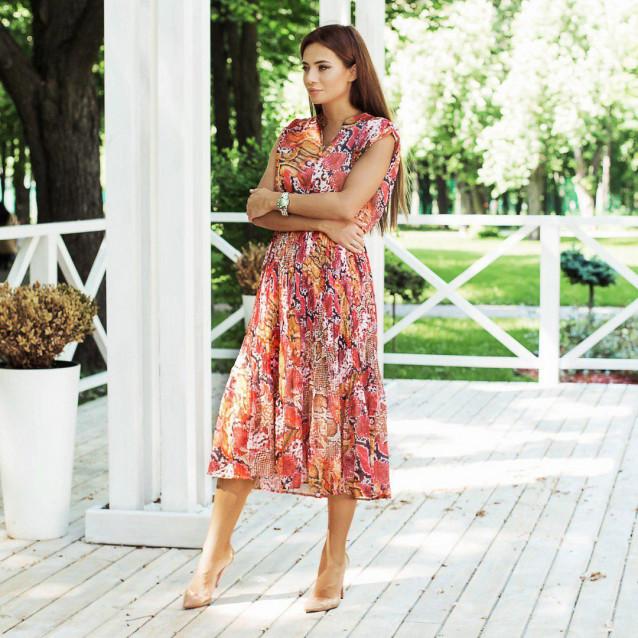 Стильное платье в цвете рептилия 23562