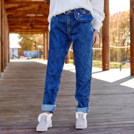 Джинсы с декоративной джинсовой сумочкой 3794