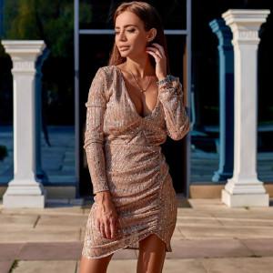 Платье с пайетками трикотажное 11398