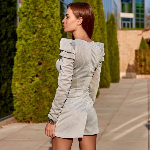 Блестящее платье-комбинезон 11401