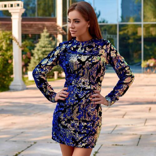 Платье из двухсторонних пайеток 11393