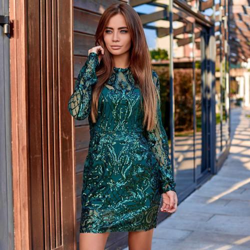 Платье с пайетками 11392