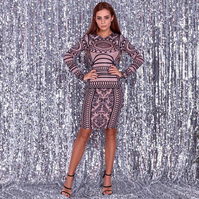 Платье с завораживающим узором 50993