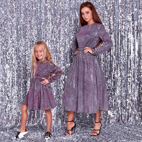 Платье Family Look женское люрекс 11415