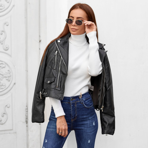 Кожаная куртка-косуха 24339
