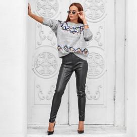 Кожаные брюки 24275
