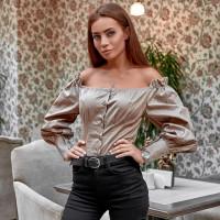 Блуза с открытыми плечами 11380