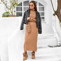 Теплое вязаное платье 2SV32