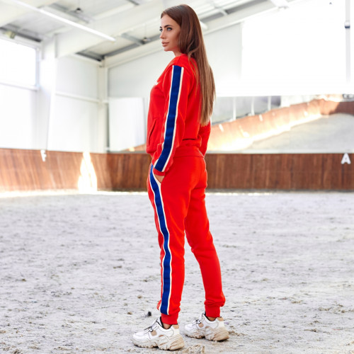 Женский темный спортивный костюм 4065