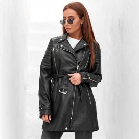 Удлиненная кожаная куртка 23292