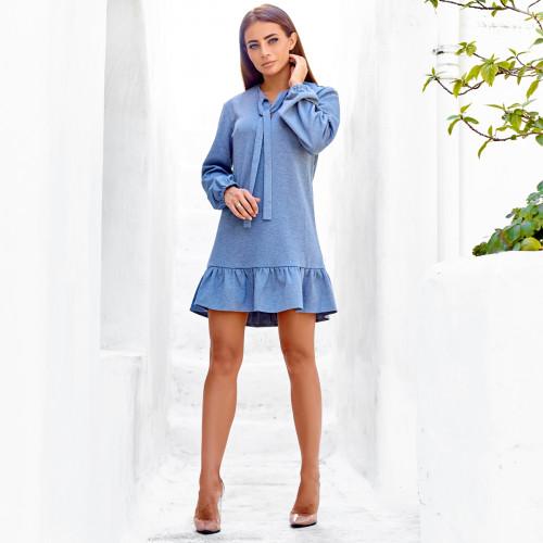 Платье с оборкой 10476