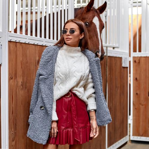 Теплый свитер с высоким горлом 3130-1