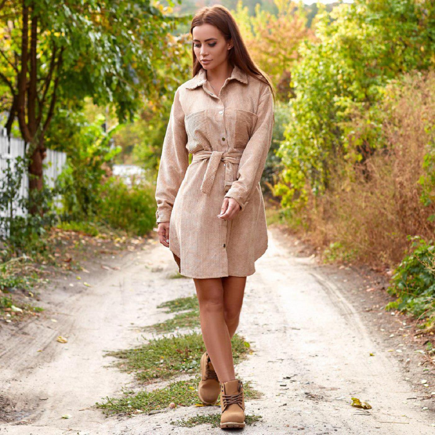 Платье вельветовое 5232
