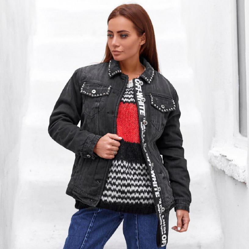 Утепленная джинсовая куртка 1006-0