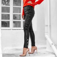 Кожаные брюки 01910559