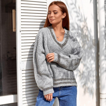 Свитер свитер с широкой горловиной 91693