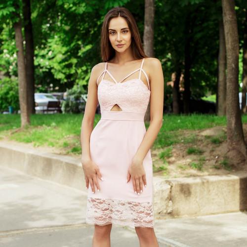Изящное гипюровое платье 290-0