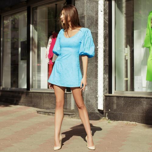 Платье рукава-воланы 6057