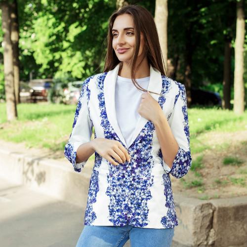 Двухцветный пиджак в цветах 9407