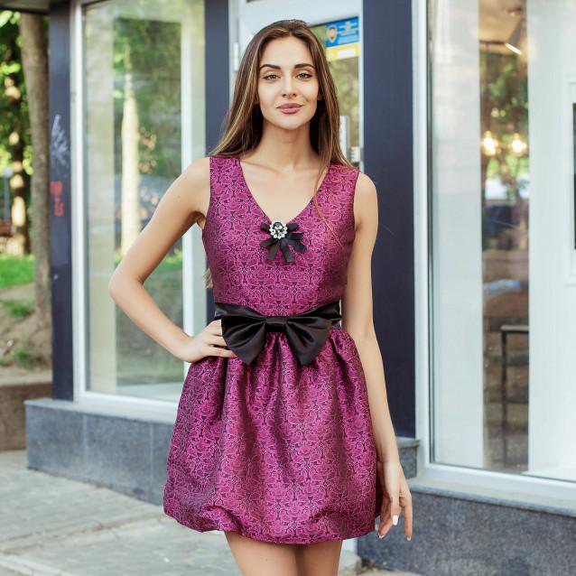 Эффектно красивое платье с бантом 7177-1