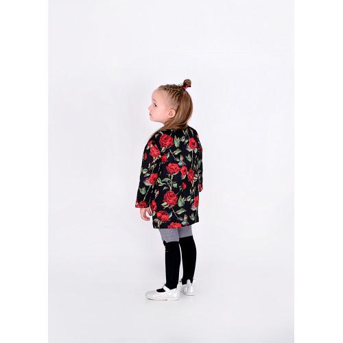 Пальто детское familylook Роза 10313